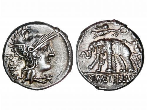 REPÚBLICA ROMANA. Denario. 125 a.C. CAECILIA. C. Caecilius M