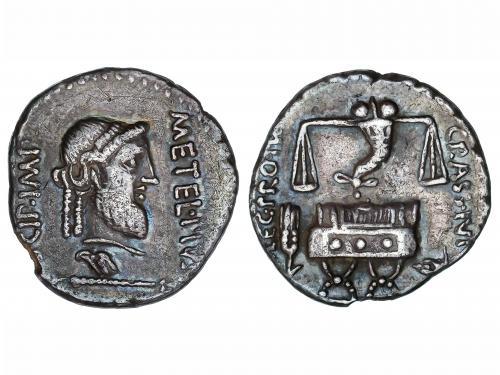 REPÚBLICA ROMANA. Denario. 47-46 a.C. CAECILIA. Q. Caecilius