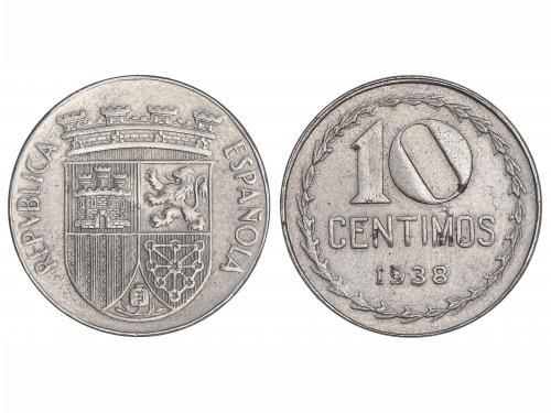 II REPÚBLICA. 10 Céntimos. 1938. Fe. (Leves manchitas, norma