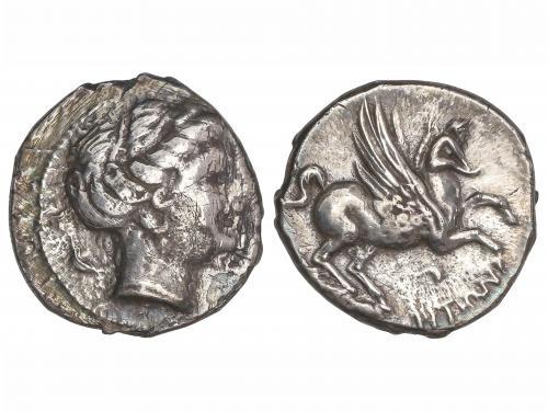MONEDAS HISPÁNICAS. Dracma. 200-110 a.C. EMPORITON(SANT MAR
