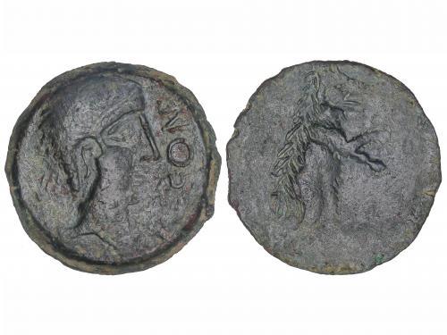MONEDAS HISPÁNICAS. As. 50 a.C. URSONE(OSUNA, Sevilla). Cab