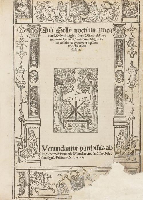 [1517]. LIBRO. (POSTINCUNABLE-CLÁSICOS). GELII, AULII [GELIO