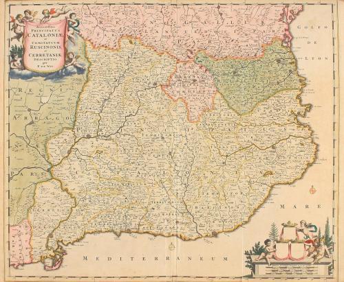 1660 ca. MAPA. (CATALUNYA). WIT, F. DE;. ACCURATISSIMA PRINC