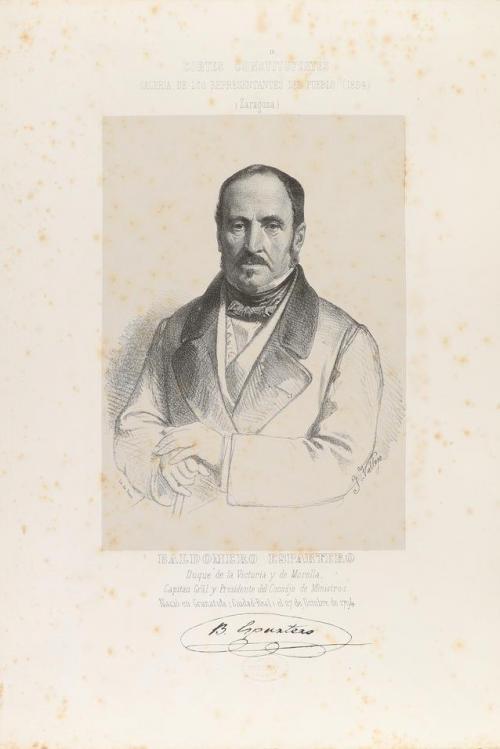 1854. GRABADO. (RETRATO-POLÍTICA). CORTES CONSTITUYENTES. GA