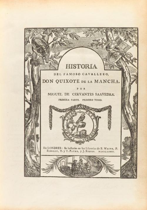 1781. LIBRO. (CERVANTINA). CERVANTES SAAVEDRA, MIGUEL DE:. H