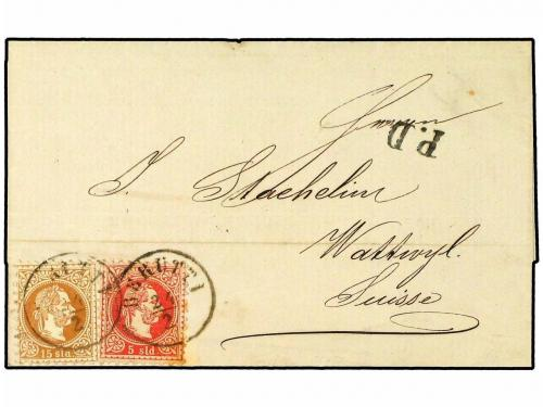 ✉ LEVANTE: CORREO AUSTRIACO. Ed. . 1874. Cover from BEYROUTH