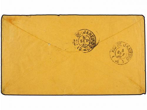 ✉ BRASIL. Sc. 71, 69, 68, 82, 88. 1888. P. DO CIMENTO a FRAN