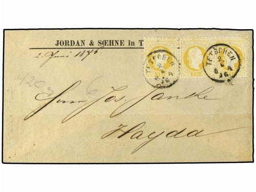 ✉ AUSTRIA. Ed. . 1876 [June 2]. Cover to Hayda with scarce f