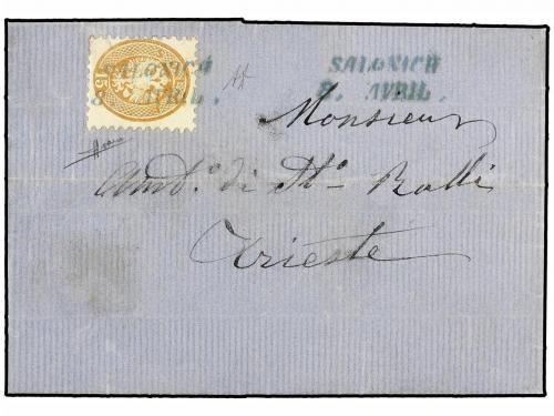 ✉ LEVANTE: CORREO AUSTRIACO. Ed. . 1869 [April 8]. Entire le
