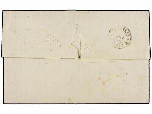 ✉ BELGICA. Mi. 28, 30, 33. 1872 (Feb 7). Cover from ANTWERP