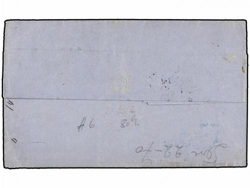 ✉ BELGICA. 1870. ANVERS to BUENOS AIRES (Argentina). Entire