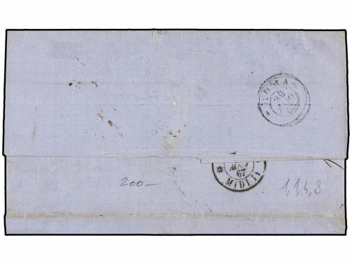 ✉ BELGICA. 1867. BRUXELLES to ROME (Italy). Entire letter fr